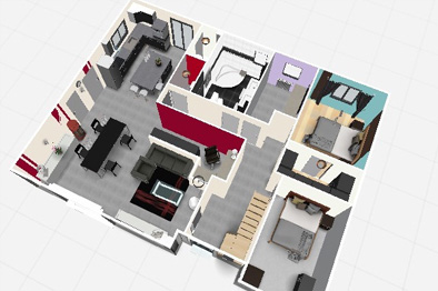 Plan maison 3d tablette for Decoration maison 3d gratuit en ligne
