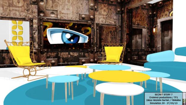 Secret Story 7   quand la déco investit les plateaux TV-Architecture ... 0d0a49a779ec