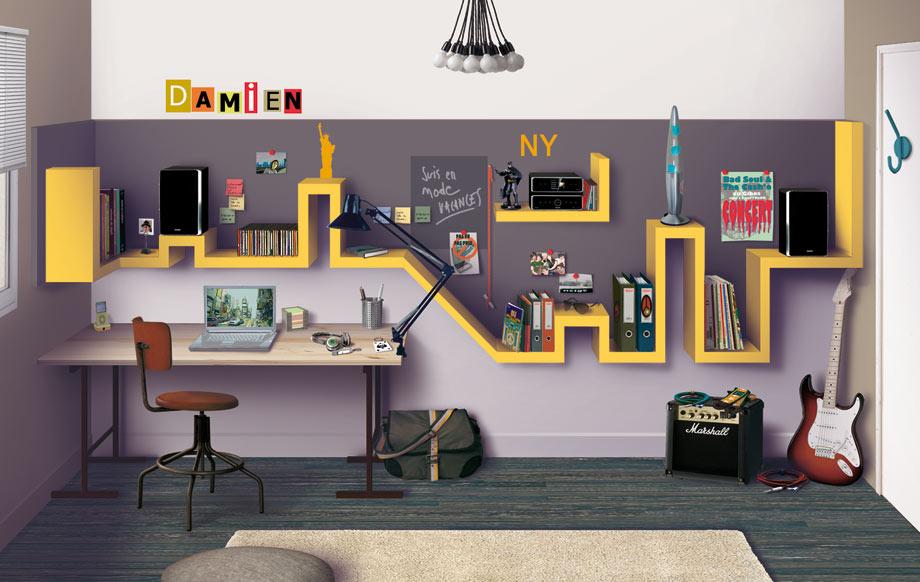 Cuisine Moderne Grise Et Blanche :  estrade chambre ado  Un incroyable lit estrade pour chambre d ado