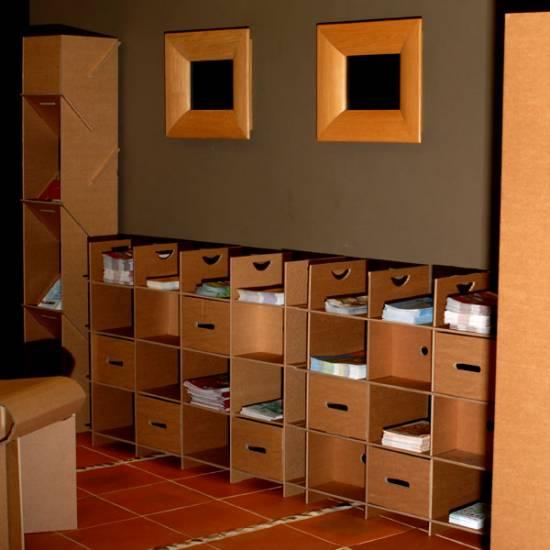 Votre maison tout en carton architecture interieure conseil - Orika mobilier carton ...
