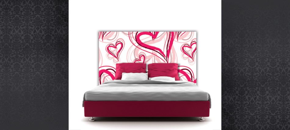 Id es d co pour la st valentin architecture interieure conseil - Tete de lit en forme de coeur ...